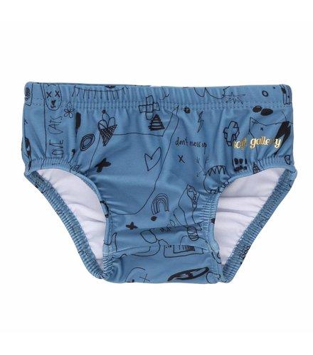 Soft Gallery Miki Swim Pants Copen Blue, AOP Quirky Big