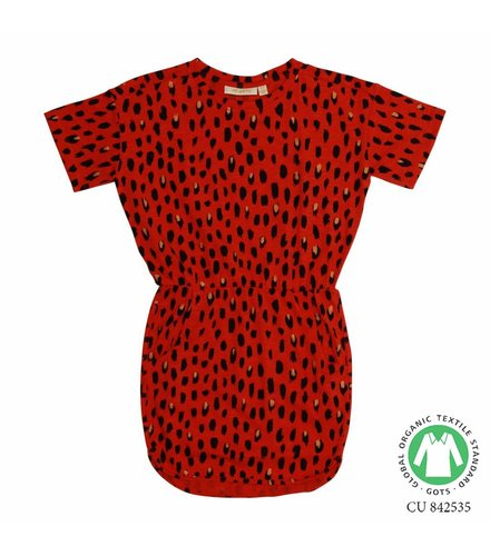 Soft Gallery Clea Dress Flame scarlet, AOP Pebbles Mega