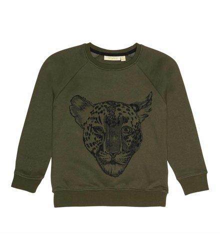 Soft Gallery Chaz Sweatshirt Burnt Olive, Leo Emb.