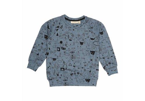 Soft Gallery Chaz Sweatshirt Citadel Black Neppy, AOP Quirky Big