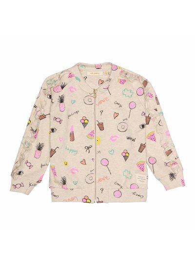 Soft Gallery Ann Jacket Cream Melange, AOP Fun