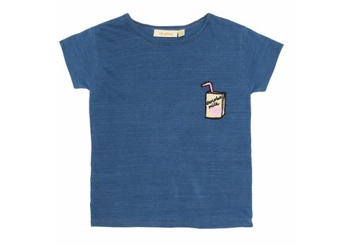 Soft Gallery Pilou T-shirt Denim Wash, Milk P Emb.