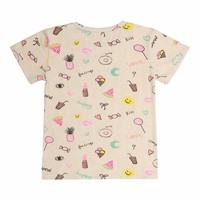 Bass T-shirt Cream Melange, AOP Fun