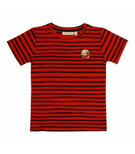 Soft Gallery Bass T-shirt Flame Scarlet, AOP Ribbon Big, Smiley Emb.