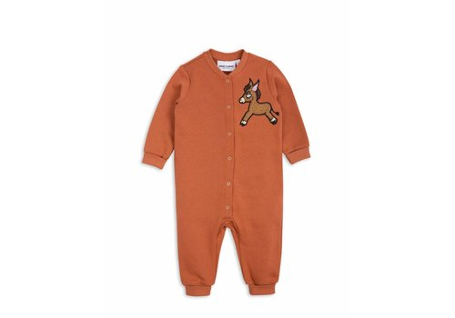 Mini Rodini Donkey Cactus Onesie Orange