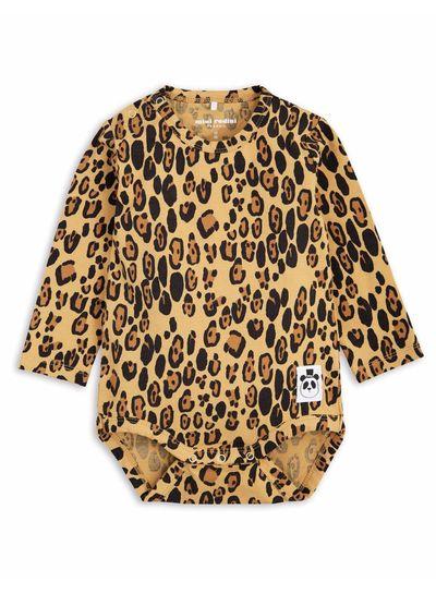 Mini Rodini Basic Leopard Ls Body Beige