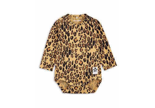 Mini Rodini Basic Leopard Ls Body Beige