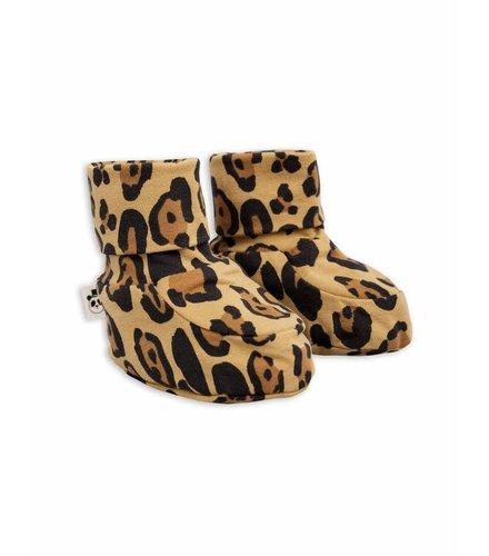 Mini Rodini Basic Leopard Baby Boot Beige