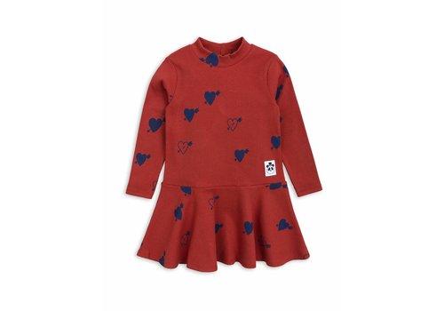 Mini Rodini Heart Rib Dance Dress Red