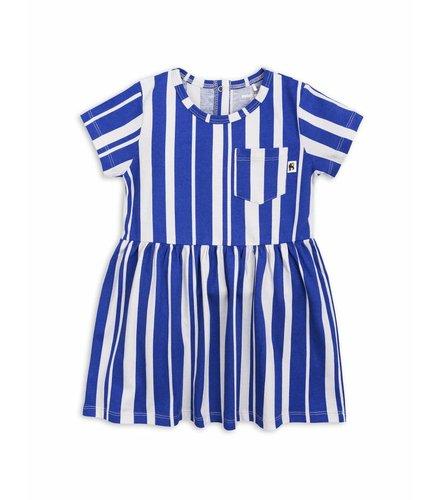 Mini Rodini Odd Stripe Ss Dress Blue
