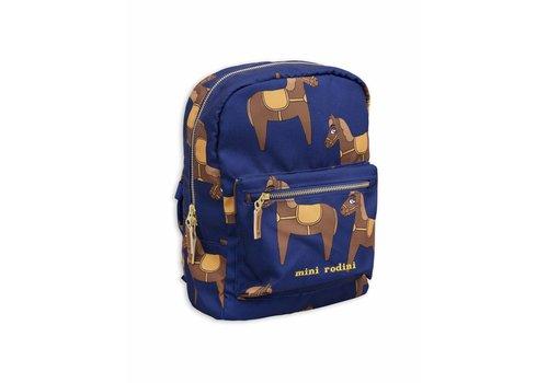 Mini Rodini Horse Backpack Navy