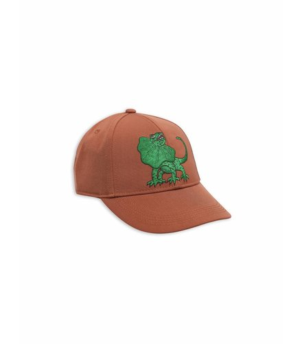 Mini Rodini Draco Embroidery Cap Brown