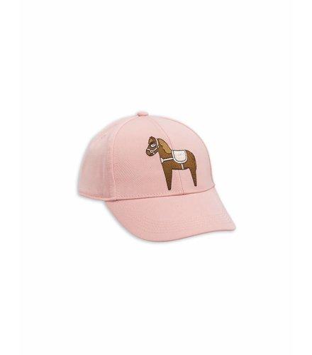 Mini Rodini Horse Embroidery Cap Pink