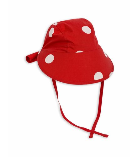 Mini Rodini Dot Sun Cap Red