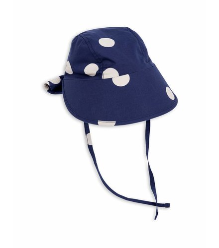 Mini Rodini Dot Sun Cap Navy