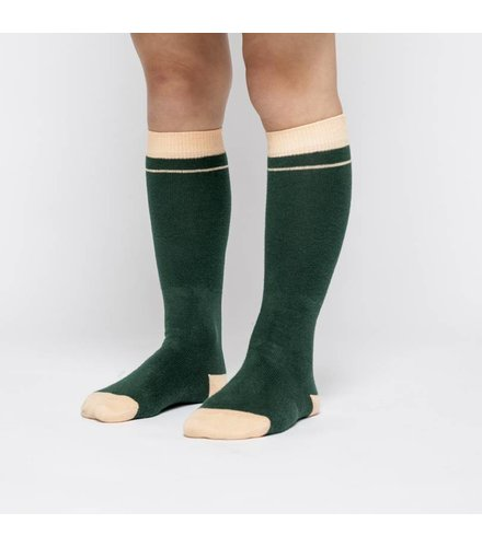 MINGO Knee Socks Rainforest Green/Apricot