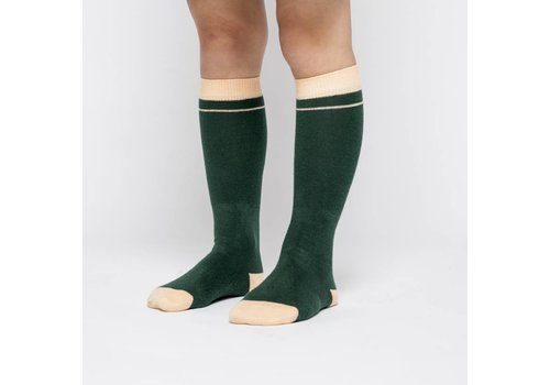 MINGO Knee Socks Rainforest Green/Apricot