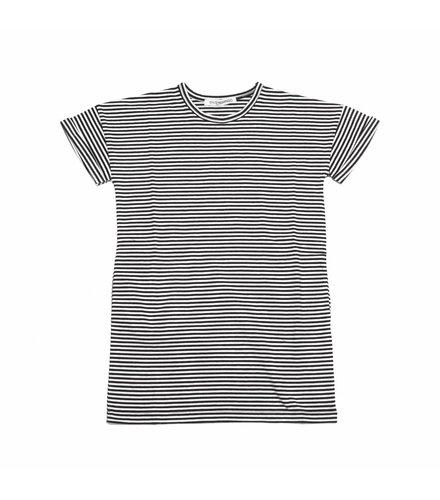 MINGO T-Shirt Dress B/W Stripes