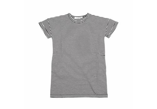 MINGO T-Shirt Dress B/W Stripes