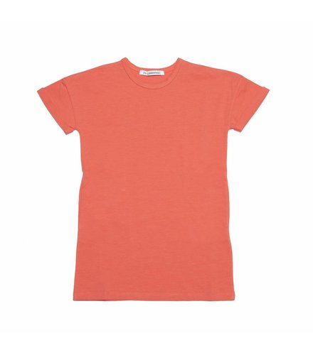 MINGO T-Shirt Dress Deep Sea Coral
