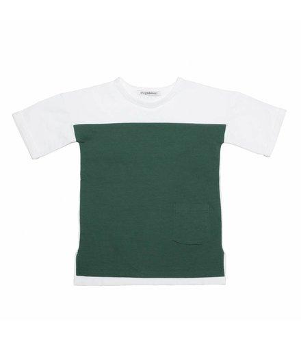 MINGO T-Shirt White/Rain Forest Green