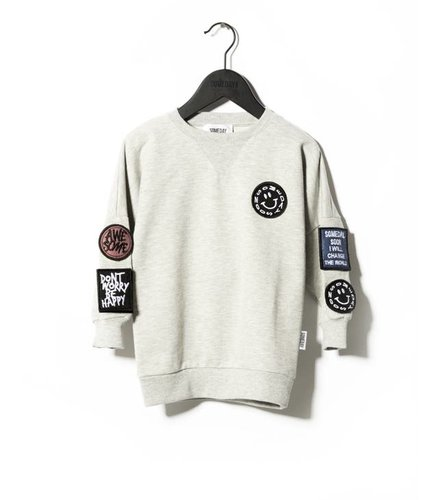 Someday Soon Crewneck Move Grey Melange