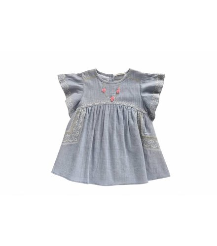 Louise Misha Dress Numidie, silver blue