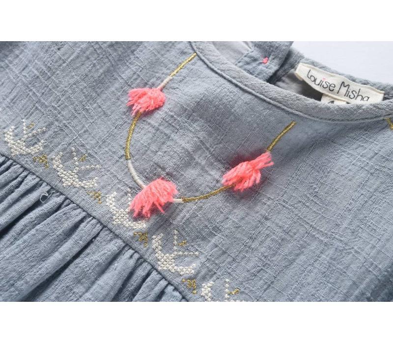 Dress Numidie, silver blue