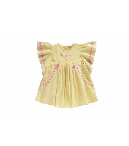 Louise Misha Dress Hindaka, lemon