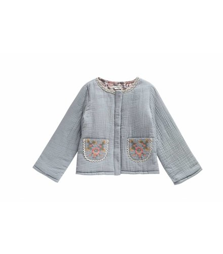 Louise Misha Jacket Pondichery, silver blue