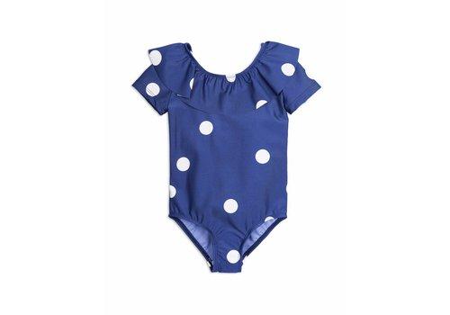 Mini Rodini Dot Ss Swimsuit Navy