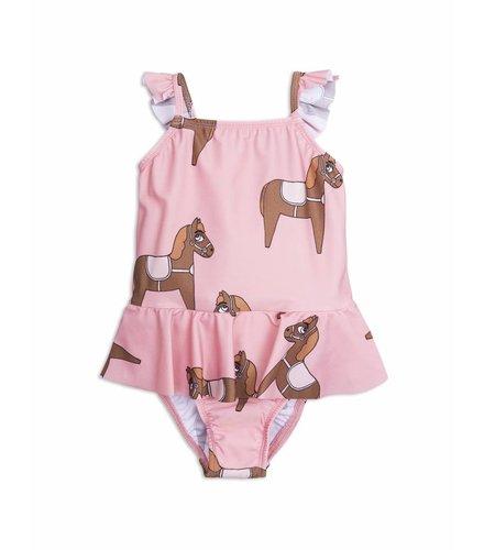 Mini Rodini Horse Skirt Swimsuit Pink