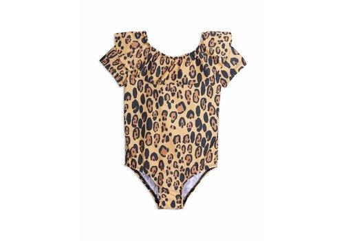 Mini Rodini Leopard Ss Swimsuit Beige