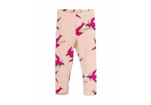 Mini Rodini Swallows Leggings Pink