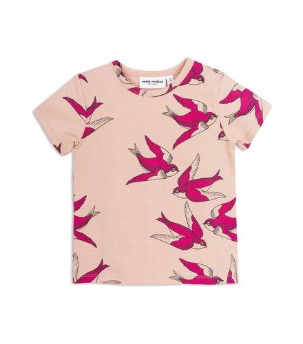 Mini Rodini Swallows Ss Tee Pink
