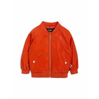 Space cat baseball jacket red