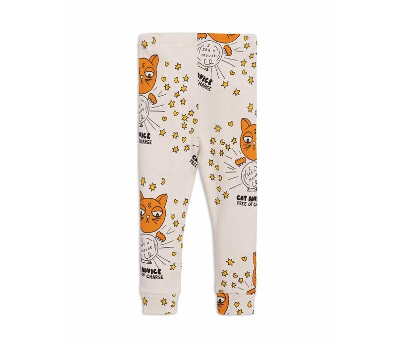 Cat advice leggings beige
