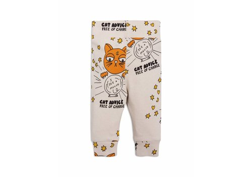 Mini Rodini Cat advice nb leggings beige