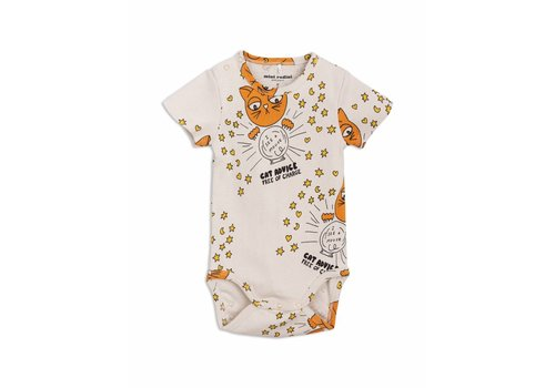 Mini Rodini Cat advice ss body beige