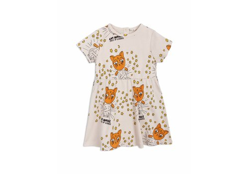 Mini Rodini Cat advice ss dress beige
