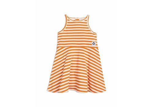 Mini Rodini Stripe rib tank dress orange