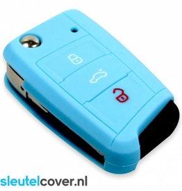 Skoda SleutelCover - Licht Blauw