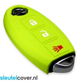 Nissan SleutelCover - Lime groen