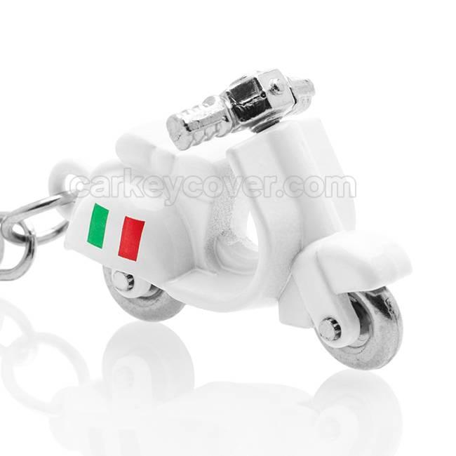 Sleutelhanger - Scooter - Vespa Italia - Wit