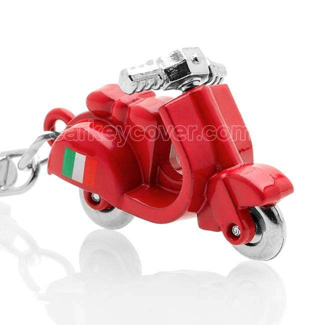 Sleutelhanger - Scooter - Vespa Italia - Rood