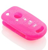 Fiat SleutelCover - Fluor Roze
