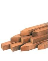 Hardhout piketpalen voor kantopsluitingen 4x4x60 cm