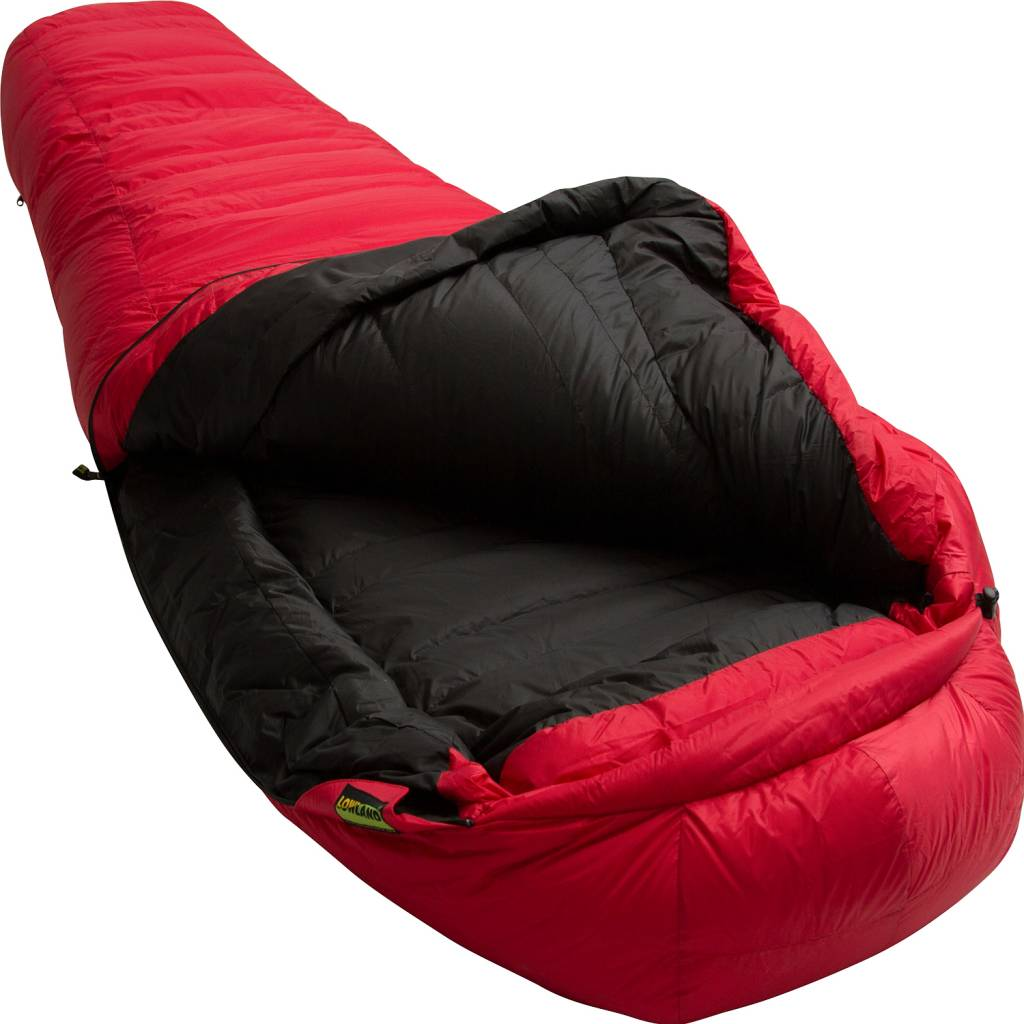 Lowland Outdoor Lowland - Expedition Sleeping Bag - K2 Red