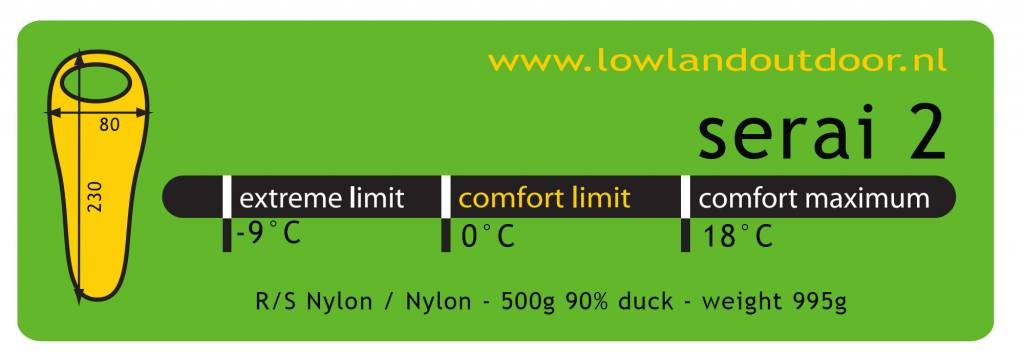 Lowland Outdoor Lowland - Mummymodel - Serai 2 - 995 gr - 0°C