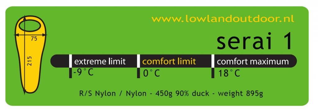 Lowland Outdoor Lowland Outdoor - Mummy model - Serai 1 - 895 gr - 0°C